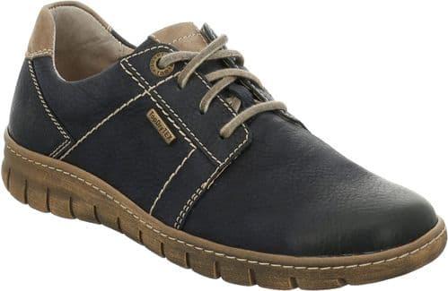 Josef Seibel Steffi 59 Lace Ladies Shoes Dark Blue / Blue